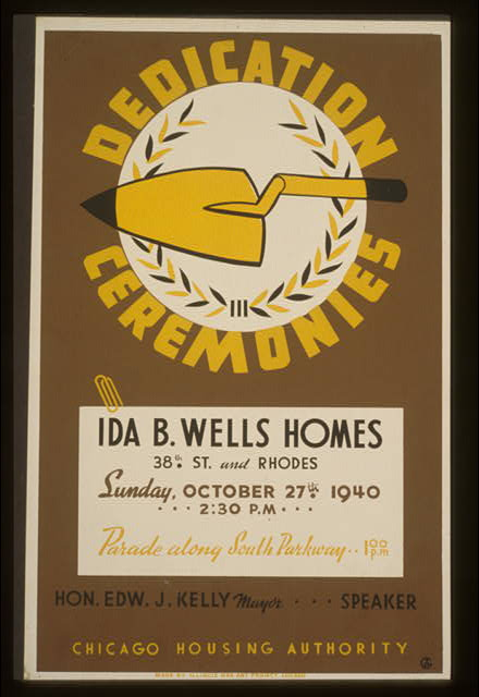 Dedication ceremonies--Ida B. Wells Homes, a development that would be sonomous with the failure of urban development