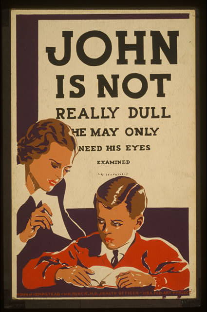 John is not really dull - he may only need his eyes examined.